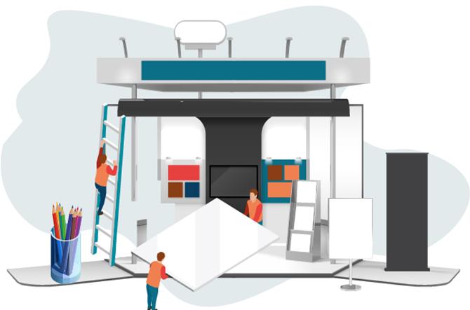طراحی و ساخت غرفه