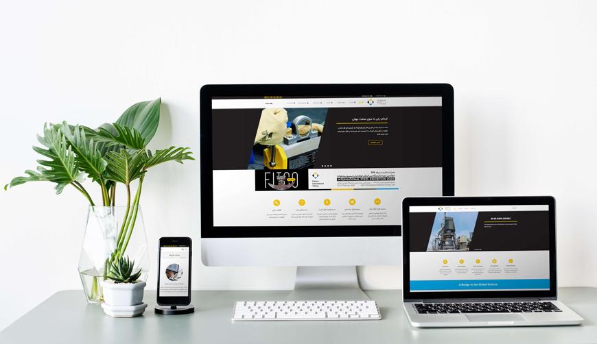 طراحی وبسایت دو زبانه شرکت فکور بین الملل تهران (فیتکو)