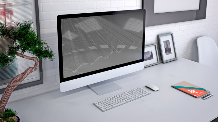 مدل سازی سه بعدی ورق پلی کربنات شرکت پلیمر طلایی یزد