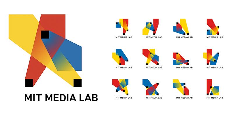 نمونه لوگوی دینامیک Dynamic از انواع لوگو- لوگوی میت Mit Media Lab