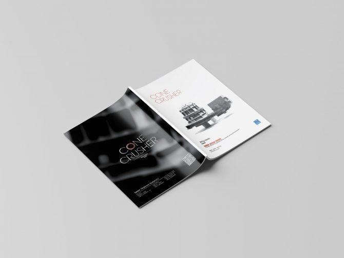 طراحی و چاپ کاتالوگ سنگ شکن مخروطی شرکت فکور مغناطیس