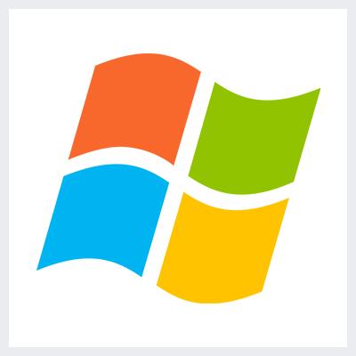 نمونه لوگوی انتزاعی Abstract از انواع لوگو- لوگوی مایکروسافت ویندوز Microsoft Windows