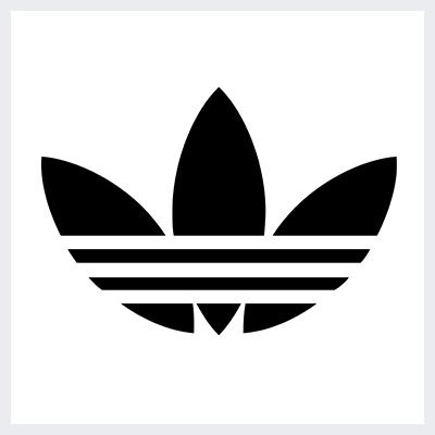 نمونه لوگوی انتزاعی Abstract از انواع لوگو- لوگوی برند آدیداس Adidass
