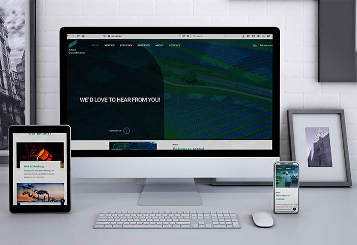 طراحی وب سایت شرکتی شرکت آلمانی اشتاد (ashtad)