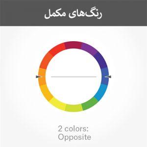 انتخاب و ترکیب رنگ لوگو در طراحی لوگو - رنگهای مکمل - راهنمای جامع انتخای و طراحی لوگو برای برند