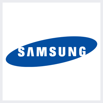 نمونه لوگوی کانتور contoured از انواع لوگو- لوگوی برند سامسونگ SAMSUNG