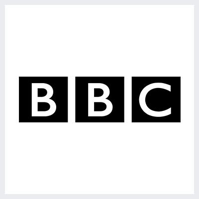 نمونه لوگوی کانتور contoured از انواع لوگو- لوگوی برند بی بی سی BBC