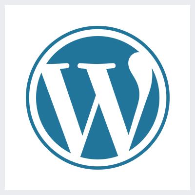 نمونه معروف لوگوی لتر فرم - لوگوی برند WordPress