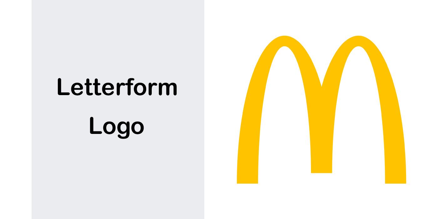 انواع لوگو – لوگوی نوشتاری - لوگوی لترفرم Letterform