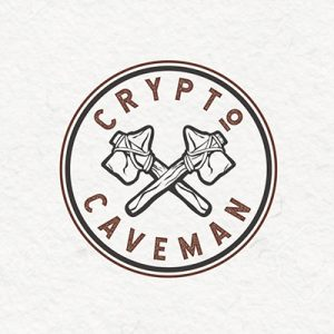 ایده لوگو و منبع الهام از طریق طوفان فکری - لوگوی crypto caveman - راهنمای جامع انتخاب و طراحی لوگو برای برند