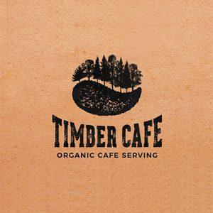 انتخاب استایل لوگو - لوگوی وینتیج Timber cafe - راهنمای جامع انتخاب و طراحی لوگو برای برند