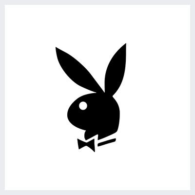 نمونه لوگوی سمبولیک یا نمادین از انواع لوگو- لوگوی پلی بوی Playboy